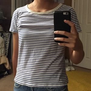 Blue Striped Tee from Urban Outfitters